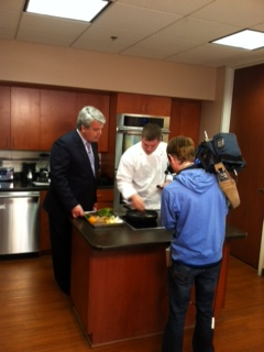 Chef Ryan on KY3 with Steve Grant