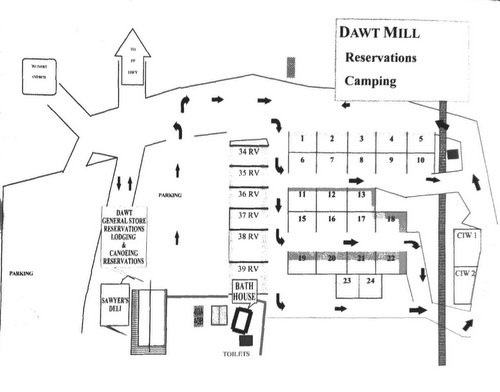 Dawt Mill Campground map